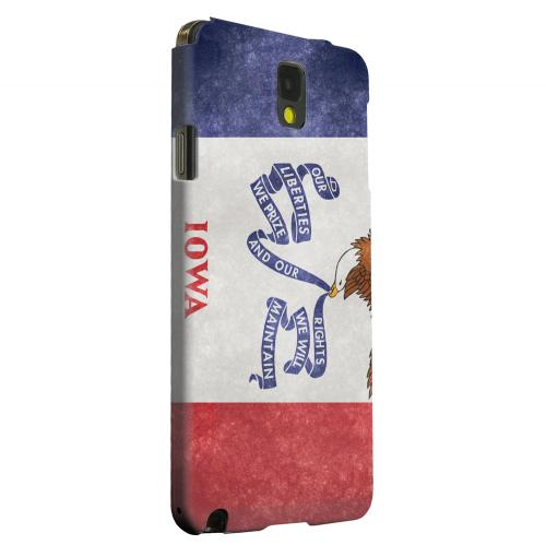 Geeks Designer Line (GDL) Samsung Galaxy Note 3 Matte Hard Back Cover - Grunge Iowa