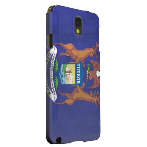 Geeks Designer Line (GDL) Samsung Galaxy Note 3 Matte Hard Back Cover - Grunge Michigan