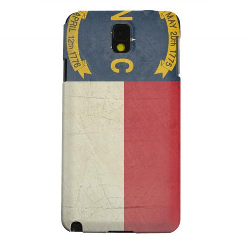 Geeks Designer Line (GDL) Samsung Galaxy Note 3 Matte Hard Back Cover - Grunge North Carolina