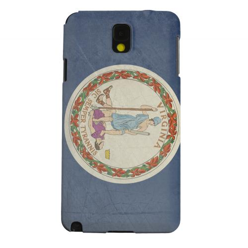 Geeks Designer Line (GDL) Samsung Galaxy Note 3 Matte Hard Back Cover - Grunge Virginia