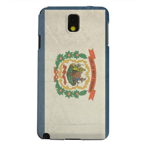 Geeks Designer Line (GDL) Samsung Galaxy Note 3 Matte Hard Back Cover - Grunge West Virginia