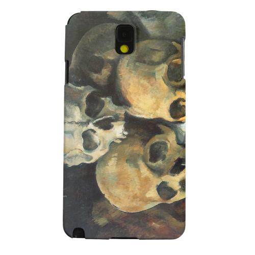 Geeks Designer Line (GDL) Samsung Galaxy Note 3 Matte Hard Back Cover - Paul Cezanne Pyramid of Skulls