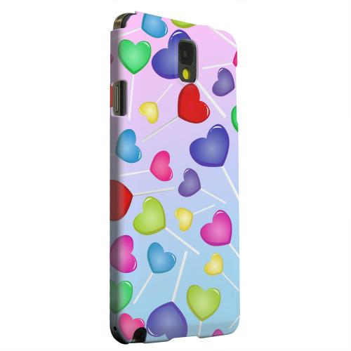 Geeks Designer Line (GDL) Samsung Galaxy Note 3 Matte Hard Back Cover - Assorted Heart Lollipops