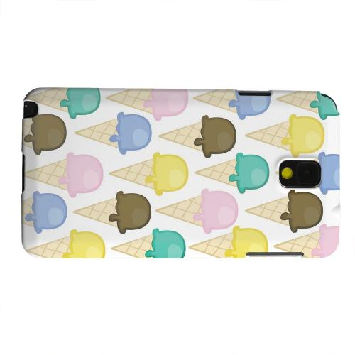 Geeks Designer Line (GDL) Samsung Galaxy Note 3 Matte Hard Back Cover - Assorted Ice Cream Cones