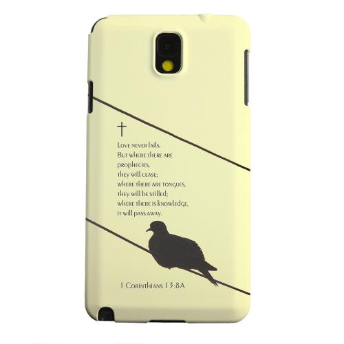 Geeks Designer Line (GDL) Samsung Galaxy Note 3 Matte Hard Back Cover - Corinthians 13:8A
