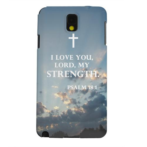 Geeks Designer Line (GDL) Samsung Galaxy Note 3 Matte Hard Back Cover - Psalm 18:1