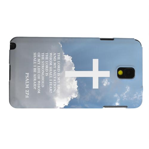Geeks Designer Line (GDL) Samsung Galaxy Note 3 Matte Hard Back Cover - Psalm 27:1