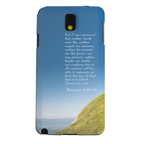 Geeks Designer Line (GDL) Samsung Galaxy Note 3 Matte Hard Back Cover - Romans 8:38-39