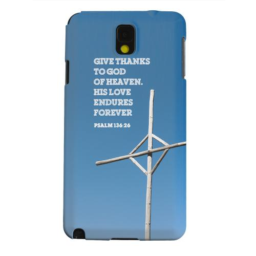 Geeks Designer Line (GDL) Samsung Galaxy Note 3 Matte Hard Back Cover - Psalm 136:26