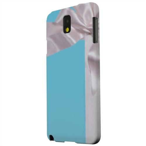 Geeks Designer Line (GDL) Samsung Galaxy Note 3 Matte Hard Back Cover - Turquoise Gift w/ White Satin Bow