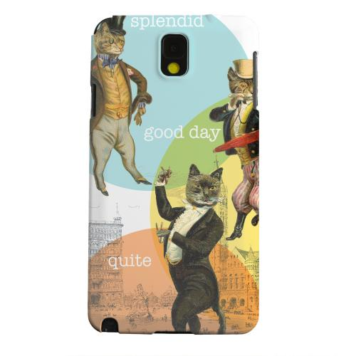 Geeks Designer Line (GDL) Samsung Galaxy Note 3 Matte Hard Back Cover - Dandy Kitties