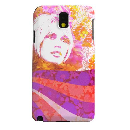 Geeks Designer Line (GDL) Samsung Galaxy Note 3 Matte Hard Back Cover - Flowerchild
