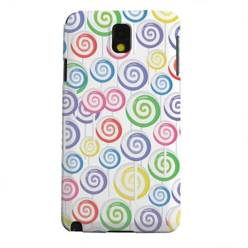Geeks Designer Line (GDL) Samsung Galaxy Note 3 Matte Hard Back Cover - Assorted Lollipops