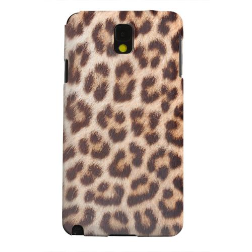 Geeks Designer Line (GDL) Samsung Galaxy Note 3 Matte Hard Back Cover - Leopard Close-Up