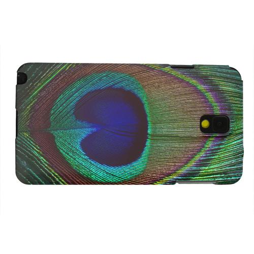 Geeks Designer Line (GDL) Samsung Galaxy Note 3 Matte Hard Back Cover - Colorful Peacock Feather