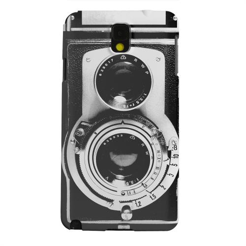 Geeks Designer Line (GDL) Samsung Galaxy Note 3 Matte Hard Back Cover - Black Film Noir Camera