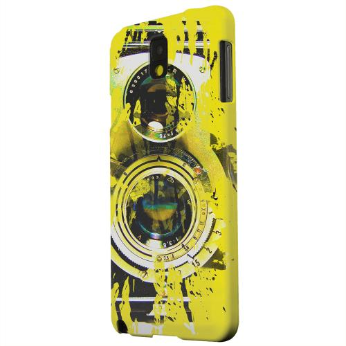Geeks Designer Line (GDL) Samsung Galaxy Note 3 Matte Hard Back Cover - Chaotic Yellow Camera