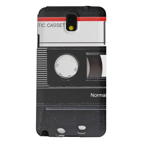 Geeks Designer Line (GDL) Samsung Galaxy Note 3 Matte Hard Back Cover - Black Cassette Close Up