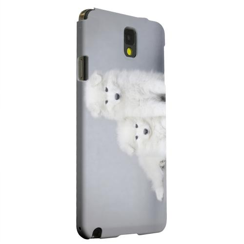 Geeks Designer Line (GDL) Samsung Galaxy Note 3 Matte Hard Back Cover - Samoyed Puppies
