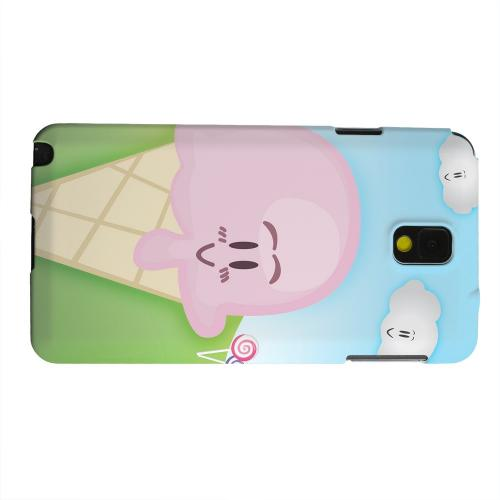 Geeks Designer Line (GDL) Samsung Galaxy Note 3 Matte Hard Back Cover - Cute Pink Ice Cream Cone