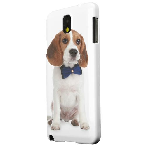 Geeks Designer Line (GDL) Samsung Galaxy Note 3 Matte Hard Back Cover - Beagle with Bow Tie