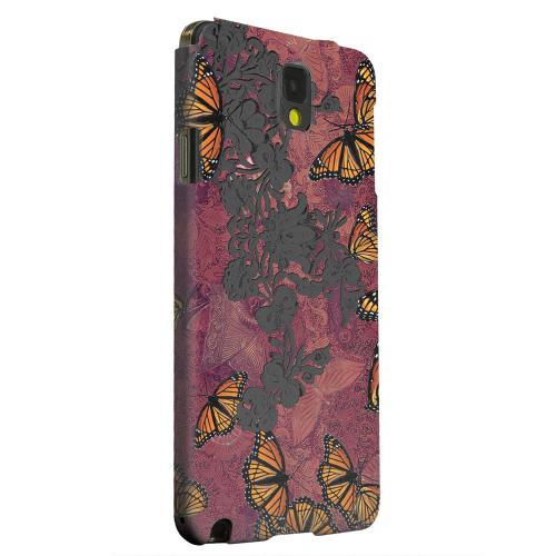 Geeks Designer Line (GDL) Samsung Galaxy Note 3 Matte Hard Back Cover - Butterflies on Parade