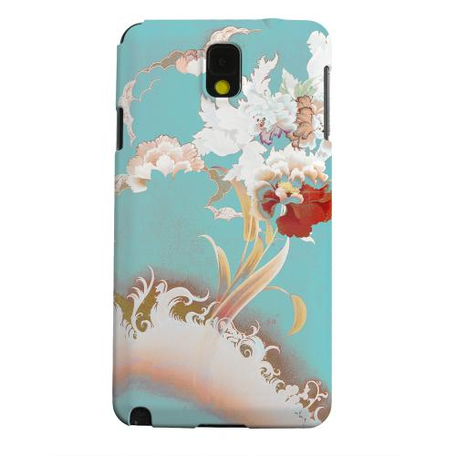 Geeks Designer Line (GDL) Samsung Galaxy Note 3 Matte Hard Back Cover - Flower Wave