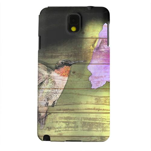 Geeks Designer Line (GDL) Samsung Galaxy Note 3 Matte Hard Back Cover - Hummingbird