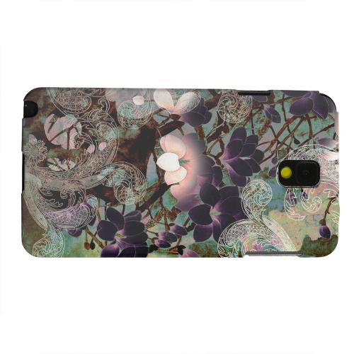 Geeks Designer Line (GDL) Samsung Galaxy Note 3 Matte Hard Back Cover - Lacy Flowers