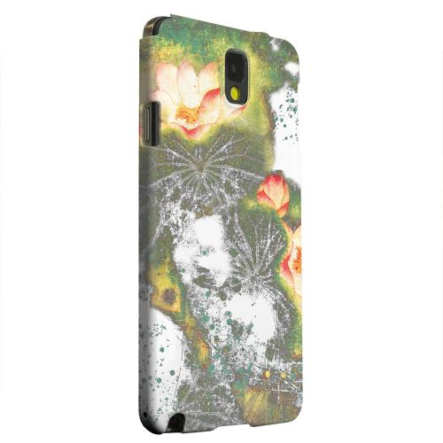Geeks Designer Line (GDL) Samsung Galaxy Note 3 Matte Hard Back Cover - Lotus Flowers