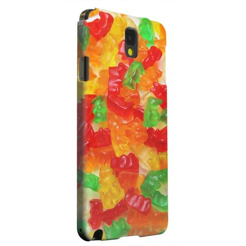 Geeks Designer Line (GDL) Samsung Galaxy Note 3 Matte Hard Back Cover - Multi-Colored Gummy Bears