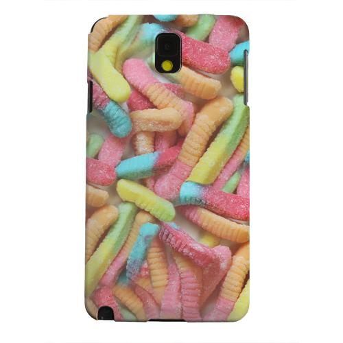 Geeks Designer Line (GDL) Samsung Galaxy Note 3 Matte Hard Back Cover - Multi-Colored Gummy Worms