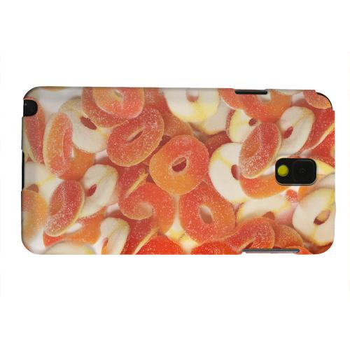 Geeks Designer Line (GDL) Samsung Galaxy Note 3 Matte Hard Back Cover - Orange/White Gummy Rings