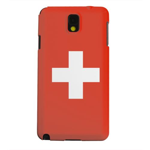 Geeks Designer Line (GDL) Samsung Galaxy Note 3 Matte Hard Back Cover - Switzerland