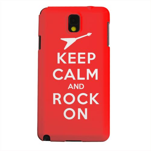 Geeks Designer Line (GDL) Samsung Galaxy Note 3 Matte Hard Back Cover - Red Rock On