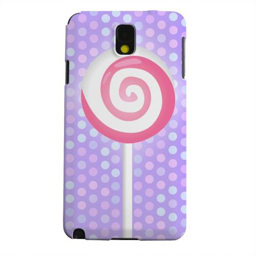 Geeks Designer Line (GDL) Samsung Galaxy Note 3 Matte Hard Back Cover - Pink Lollipop