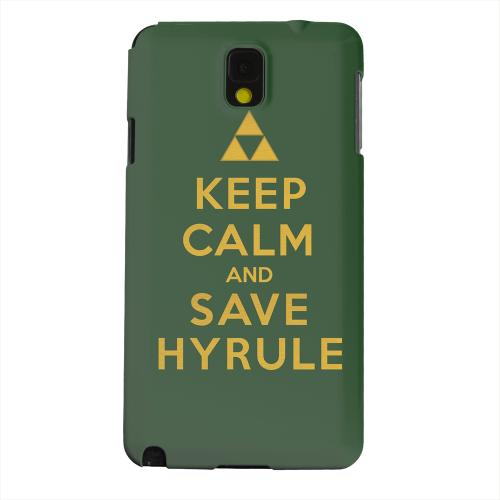 Geeks Designer Line (GDL) Samsung Galaxy Note 3 Matte Hard Back Cover - Green Save Hyrule