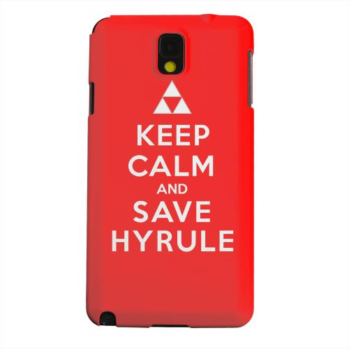 Geeks Designer Line (GDL) Samsung Galaxy Note 3 Matte Hard Back Cover - Red Save Hyrule