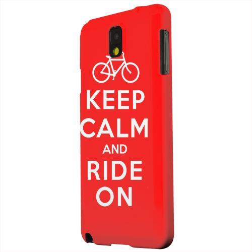 Geeks Designer Line (GDL) Samsung Galaxy Note 3 Matte Hard Back Cover - Red Ride On