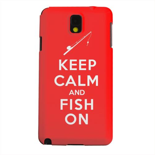 Geeks Designer Line (GDL) Samsung Galaxy Note 3 Matte Hard Back Cover - Red Fish On