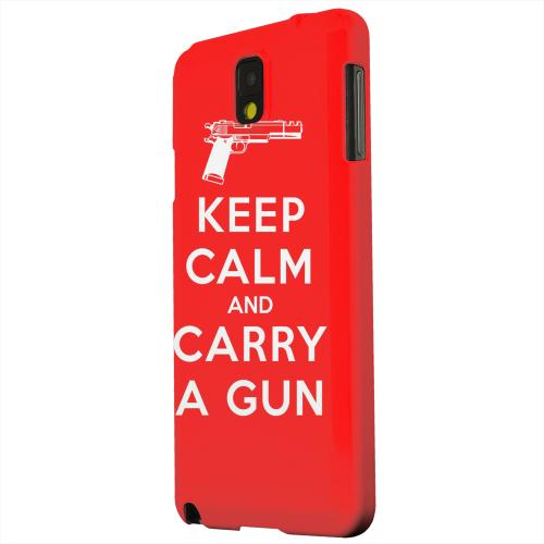 Geeks Designer Line (GDL) Samsung Galaxy Note 3 Matte Hard Back Cover - Red Carry A Gun
