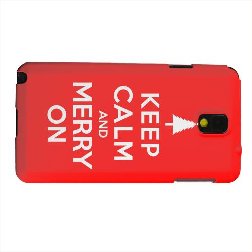 Geeks Designer Line (GDL) Samsung Galaxy Note 3 Matte Hard Back Cover - Red Merry On
