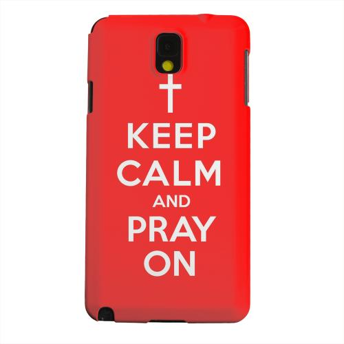 Geeks Designer Line (GDL) Samsung Galaxy Note 3 Matte Hard Back Cover - Red Pray On