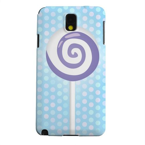 Geeks Designer Line (GDL) Samsung Galaxy Note 3 Matte Hard Back Cover - Purple Lollipop