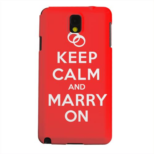 Geeks Designer Line (GDL) Samsung Galaxy Note 3 Matte Hard Back Cover - Red Marry On