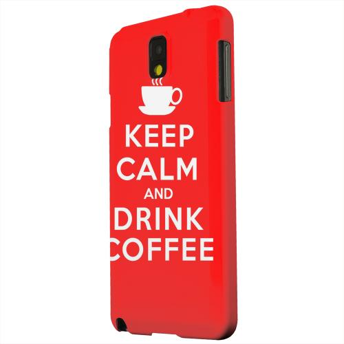 Geeks Designer Line (GDL) Samsung Galaxy Note 3 Matte Hard Back Cover - Red Drink Coffee