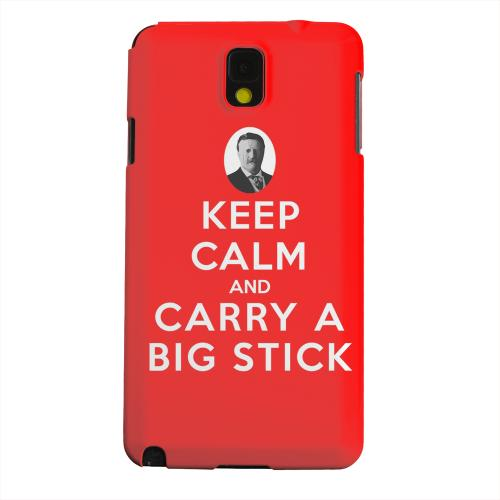 Geeks Designer Line (GDL) Samsung Galaxy Note 3 Matte Hard Back Cover - Red Carry A Big Stick