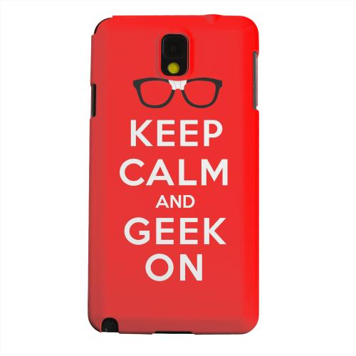 Geeks Designer Line (GDL) Samsung Galaxy Note 3 Matte Hard Back Cover - Red Geek On