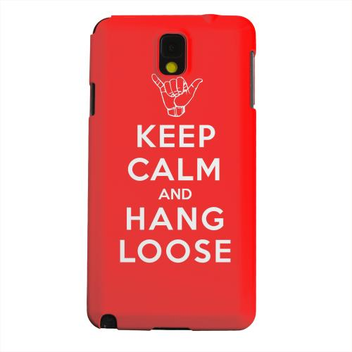 Geeks Designer Line (GDL) Samsung Galaxy Note 3 Matte Hard Back Cover - Red Hang Loose