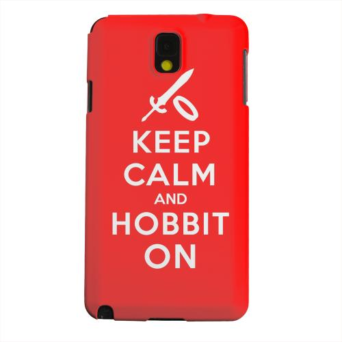 Geeks Designer Line (GDL) Samsung Galaxy Note 3 Matte Hard Back Cover - Red Hobbit On